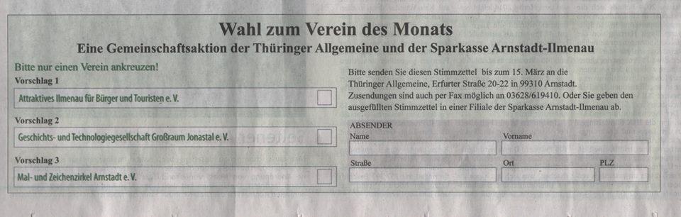 TA Stimmzettel
